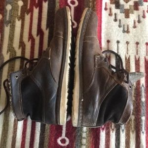 Unique leather winter boots